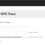 Uploading a GPS Trace